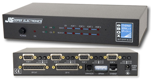 JlCooper eBOX  interfaccia Quad Serial / Ethernet / GPI