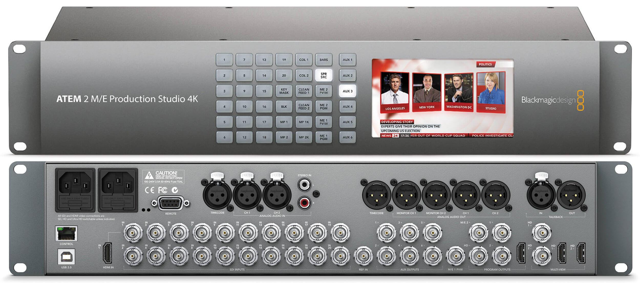 ATEM 2 M/E Production Studio 4K - Blackmagic