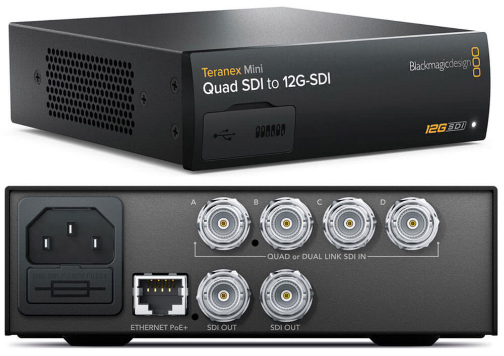 Blackmagic Teranex Mini Quad SDI to 12G-SDI