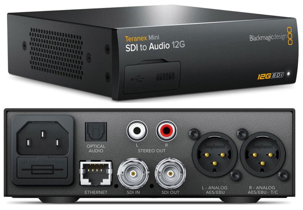 Blackmagic Teranex Mini SDI to Audio 12G