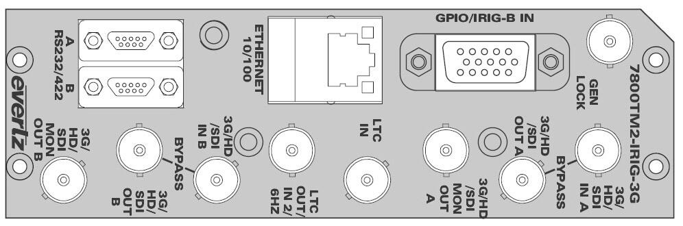 EVERTZ 7800TM2-IRIG-3G+3RU