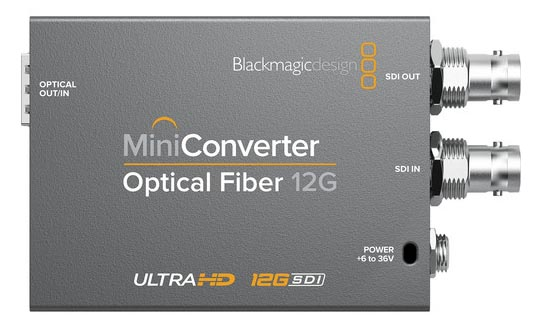 Blackmagic Mini Converter Optical Fiber 12G