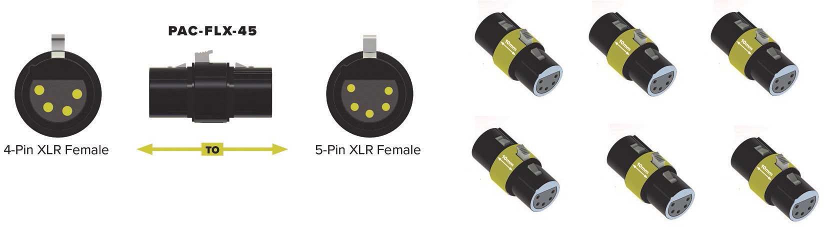 Pliant PAC-FLX-45-6PK 6X adattatori XLR4F a XLR5F
