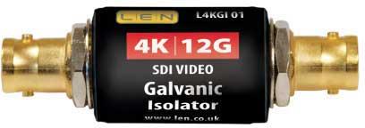 LEN LTD L4KGI01 4K/12G SDI VIDEO Galvanic isolator (barrel style)