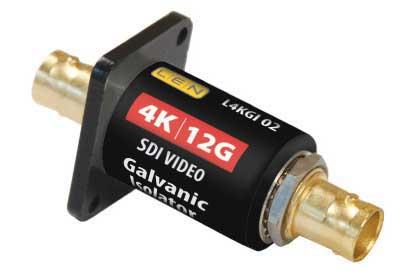LEN LTD L4KGI02 4K/12G SDI VIDEO Isolatore galvanico (montaggio a flangia)